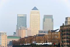 De Werf van de kanarie, Londen, het UK Stock Afbeeldingen