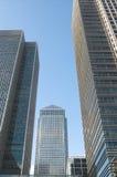 De Werf van de kanarie, Londen, het UK Royalty-vrije Stock Afbeeldingen