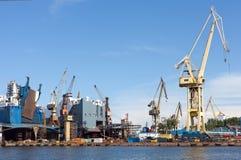 De Werf van de Reparatie van het schip. Royalty-vrije Stock Afbeelding