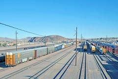 De werf van de spoorweg Royalty-vrije Stock Foto