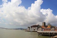 De Werf van de Visser van Macao Stock Foto's
