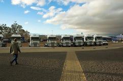 De Werf van de vrachtwagen Stock Foto
