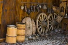 De werf van het dorp Stock Foto's