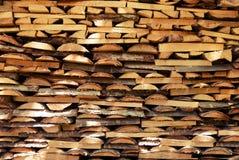 De werf van het timmerhout Stock Foto's