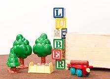 De Werf van het Timmerhout van de pret stock afbeelding