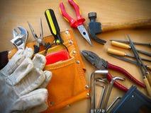 De werkende Achtergrond van Hulpmiddelen stock afbeeldingen
