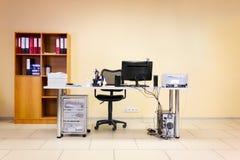 De werkende plaats van het bureau Royalty-vrije Stock Foto