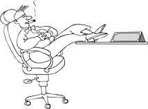 De werkgever vector illustratie