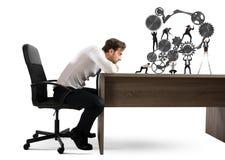De werkgever bouwt een commercieel team Royalty-vrije Stock Afbeelding