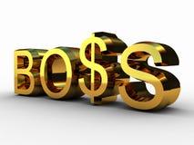 De werkgever en de dollar Royalty-vrije Stock Afbeeldingen