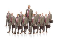 De werkgever en de menigte stock fotografie