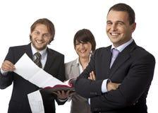De werkgever is gelukkig Royalty-vrije Stock Fotografie