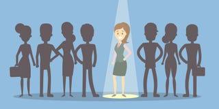 De werkgever kiest werknemer stock illustratie