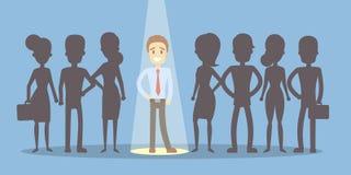 De werkgever kiest werknemer royalty-vrije illustratie
