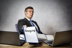 De werkgever verwerpt somebody Royalty-vrije Stock Foto