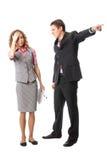 De werkgever verwerpt werknemer stock foto's