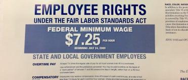 De werknemer herstelt het Eerlijke Akte van Arbeidsnormen royalty-vrije stock afbeeldingen