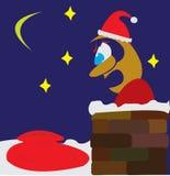 De werknemer van de kerstman in paniek Royalty-vrije Stock Afbeeldingen
