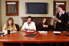 De werknemers van Cellphone royalty-vrije stock foto