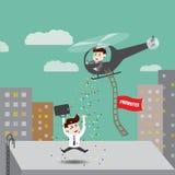 De werknemers worden bevorderd Royalty-vrije Stock Afbeeldingen