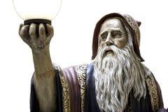 De werktijd middeleeuwse druïde van het Merlinstandbeeld Royalty-vrije Stock Afbeelding