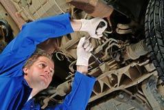 De werktuigkundige van de auto Stock Fotografie