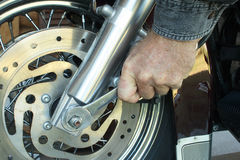 De Werktuigkundige van de motorfiets Stock Foto's
