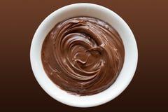 De werveling van de chocolade Royalty-vrije Stock Foto's