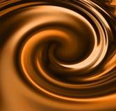 De werveling van de chocolade stock illustratie