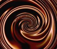 De Werveling van de chocolade Stock Foto's