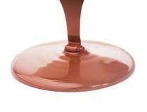 De stroom van de chocolade stock fotografie