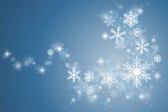 De werveling van de de wintersneeuwvlok royalty-vrije illustratie