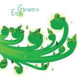 De werveling van de Eco groene installatie vector illustratie