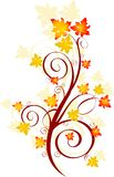 De werveling van de herfst stock illustratie