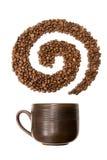 De werveling van de koffie Stock Foto's