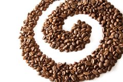 De werveling van de koffie Stock Afbeeldingen
