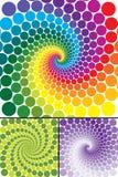 De werveling van de regenboog met variaties royalty-vrije illustratie