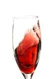 De Werveling van de rode Wijn Stock Foto