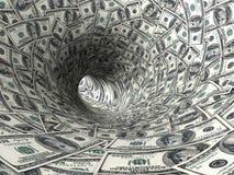De werveling van dollars. vector illustratie