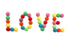 De werveling van het suikergoed - liefde stock afbeelding