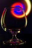 De werveling van het wijnglas Stock Afbeelding
