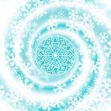 De werveling van de sneeuwblizzard De achtergrond van de winter vector illustratie