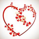 De Wervelingen van de liefde Stock Foto