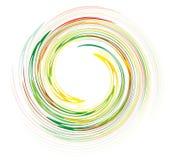 De wervelingsontwerp van de regenboog Stock Foto