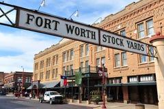De Werven van de Voorraad van Fort Worth stock foto