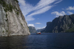 De westelijke Fjorden van de Beekvijver Royalty-vrije Stock Afbeelding