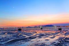 De Westelijke Gang van Hongkong Shenzhen bij zonsondergang stock afbeelding