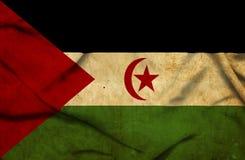De westelijke golvende Vlag van de Sahara vector illustratie
