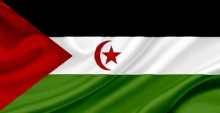 De westelijke golvende Vlag van de Sahara stock illustratie