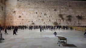 De Westelijke Muur in Israël stock videobeelden